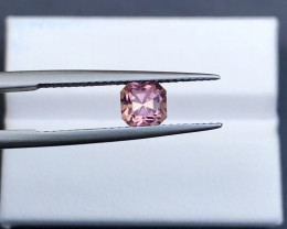 ~No Reserve~1.01(ct) Baby Pink Color Asscher Cut Congo Tourmaline