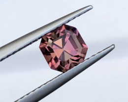 ~No Reserve~1.16(ct) Attractive Pink Color Asscher Cut Congo Tourmaline