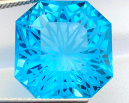 Spotless Outstanding Flower Cut 28.50 ct lovely Color Swiss Topaz