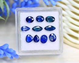 Sapphire 3.62Ct 10Pcs Natural Madagascar Blue Sapphire Box A1104