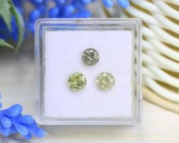 Diamond 1.23Ct 3Pcs Round Natural Genuine Fancy Color Diamond A1109