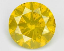 Yellow Diamond 1.16 Cts Sparkling Fancy Intense Yellow Natural Diamond