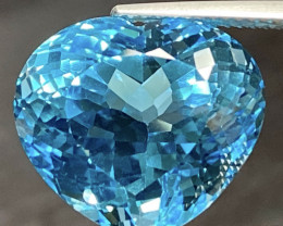 21.14ct VVS Topaz - Heart / Great Luster / 16.7x14.7mm
