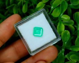 Emerald 0.85Ct Colombian Muzo Emerald Neon Mint Green Beryl A1118