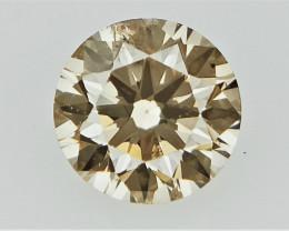 0.15  cts   Round Brilliant Cut , Brown Colored Diamond
