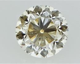 0.26 cts   Round Brilliant Cut , Light Colored Diamond