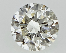 0.17 cts   Round Brilliant Cut , Light Colored Diamond