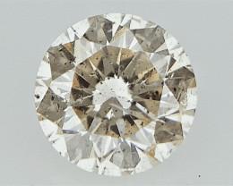 0.19 cts   Round Brilliant Cut , Light Colored Diamond