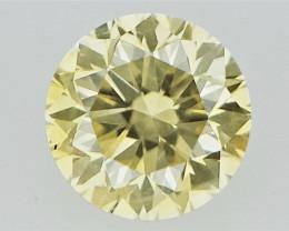 0.11 cts  Round Brilliant Cut , Light Colored Diamond