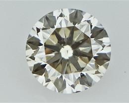 0.21 cts   Round Brilliant Cut , Light Colored Diamond