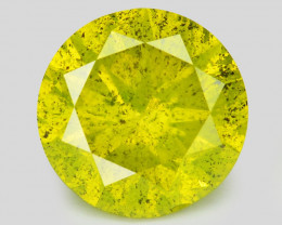 Diamond 1.51 Cts Sparkling Fancy Intense Yellow Green Natural