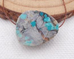 D1534 - 12cts Lucky Turquoise Pendant ,Handmade Gemstone ,Turquoise Bead