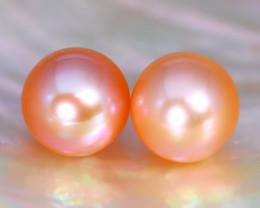 8.3mm 8.15Ct Natural Australian South Sea Orange Color Pearl C1115