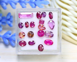 Ruby 4.22Ct 18Pcs Natural Mozambique Red Ruby Box C1121