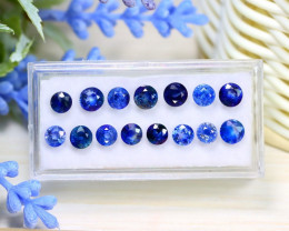 Sapphire 10.15Ct Round Cut Natural Ceylon Blue Sapphire Lot Box C1126