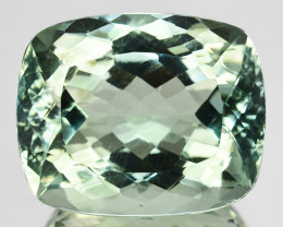 ~PRETTY~ 19.14 Cts Natural Green Prasiolite/Amethyst Cushion Brazil