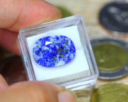 11.38ct Natural Lapis Lazulli Faceted Oval Cut Lot B3521