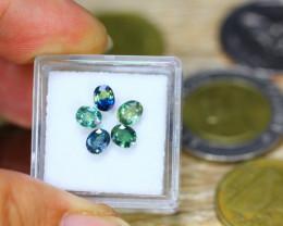 2.15ct Natural Greenish Blue Sapphire Oval Cut Lot B3524