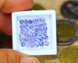4.61ct Natural Violet Blue Tanzanite 3.4mm Round Cut Lot B3529