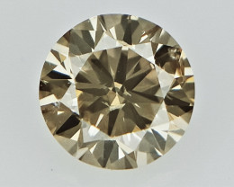 0.14 cts   Round Brilliant Cut , Light Colored Diamond