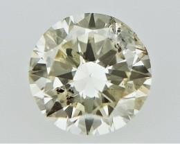0.15 cts   Round Brilliant Cut , Light Colored Diamond