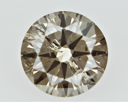 0.13 cts   Round Brilliant Cut , Light Colored Diamond