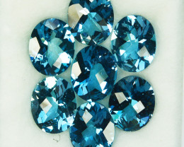 19.64 Cts Natural London Blue Topaz Oval Checkerboard Cut Brazil