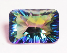 12.55 Cts Rare Fancy Rainbow Colors Natural Mystic Topaz