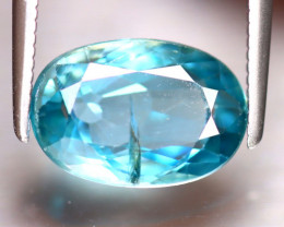 Blue Zircon 3.72Ct Natural Cambodian Blue Zircon E1201/B6