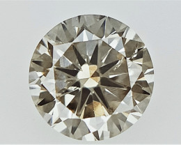 0.19 cts . Champagne Natural Diamond , Diamond for Jewelry