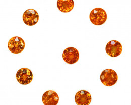 2.38 Cts Natural Fanta Orange Spessartite Garnet 3.6-3.3mm Round Namibia