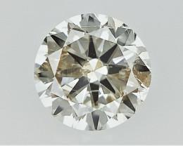 0.23 cts   Round Brilliant Cut , Light Colored Diamond