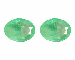 2.35 Cts Paired Natural Green Colombian Emerald Gemstone