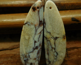 Magnesite cabochon pairs earring bead (G2802)