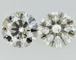 0.61 cts  Round Brilliant Cut , Light Colored Diamond