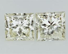 0.93 cts  Princess Cut Diamond , Rare Natural Diamond