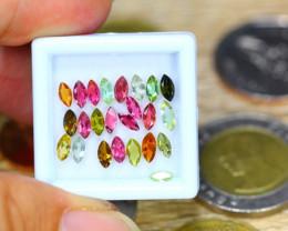 3.55ct Natural Multi Color Tourmaline Marquise Cut Lot GW8629