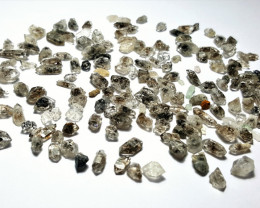 Amazing Natural color Diamond Quartz Crystals lot 100Cts-Q/X