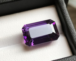10.95 ct Octagon cut Amethyst