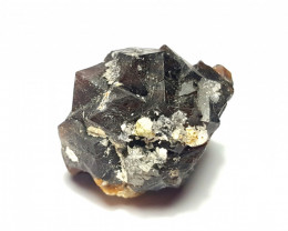 Amazing Natural color Damage free Garnet cluster with mine clay 74Cts-A