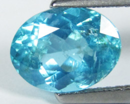 2.75Cts Natural Amazing Paraiba Blue Color Apatite Oval Shape Collection Re