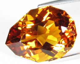 24.84Cts Beautiful Natural Citrine Pear Custom Cut Loose Gemstone REF VIDEO