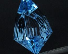 10.50Cts Sparkling Natural Baby Blue Topaz Fancy Cut Loose Gemstone REF VID