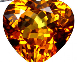 28.25Cts Lovely Natural Citrine Heart Shape Loose Gemstone REF VIDEO