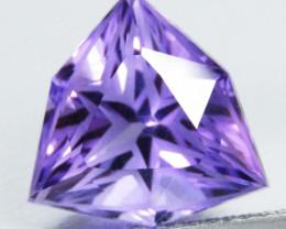5.33Cts Genuine Fine Quality Natural Amethyst Trillion Custom Cut Loose Gem