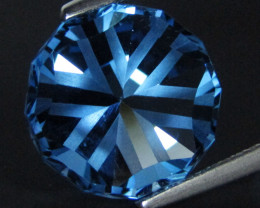 8.05Cts Sparkling Natural  Swiss Blue Topaz Round Fashion precision Cut Loo