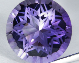 11.50Cts Amazing  Quality Natural Amethyst Round precision Cut Loose Gem VI