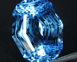 28.32Cts Sparkling Natural Baby Swiss Blue Topaz Fancy precision Cut Loose