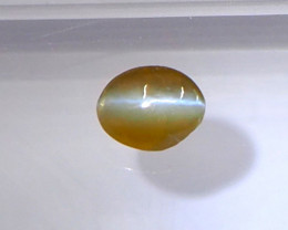 0.67ct Natural honey cats eye chrosoberyl