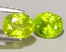 2.45 CTS AMAZING RAREST NATURAL SPHENE GREEN 2 PCS